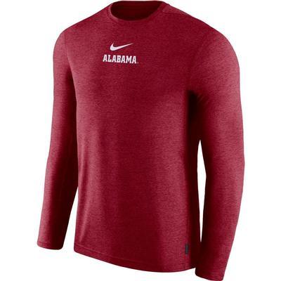 Alabama Nike Dry Long Sleeve Coaches Tee TEAM_CRIMSON
