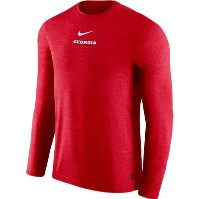 Georgia Nike Dry Long Sleeve Coaches Tee
