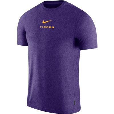 LSU Nike Dry Short Sleeve Coaches Tee PURPLE