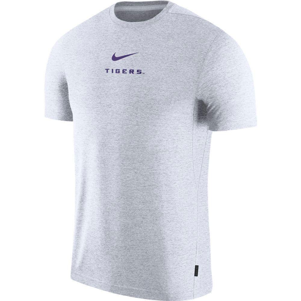 Lsu Nike Dry Short Sleeve Coaches Tee