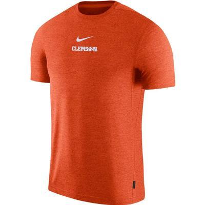 Clemson Nike Dry Short Sleeve Coaches Tee ORANGE