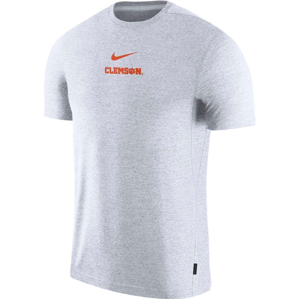 Clemson Nike Dry Short Sleeve Coaches Tee