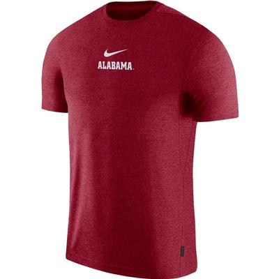 Alabama Nike Dry Short Sleeve Coaches Tee TEAM_CRIMSON