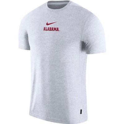 Alabama Nike Dry Short Sleeve Coaches Tee WHITE