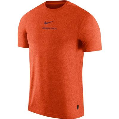 Virginia Tech Nike Dry Short Sleeve Coaches Tee ORANGE