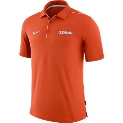 Clemson Nike Dri-FIT Team Issue Polo ORANGE