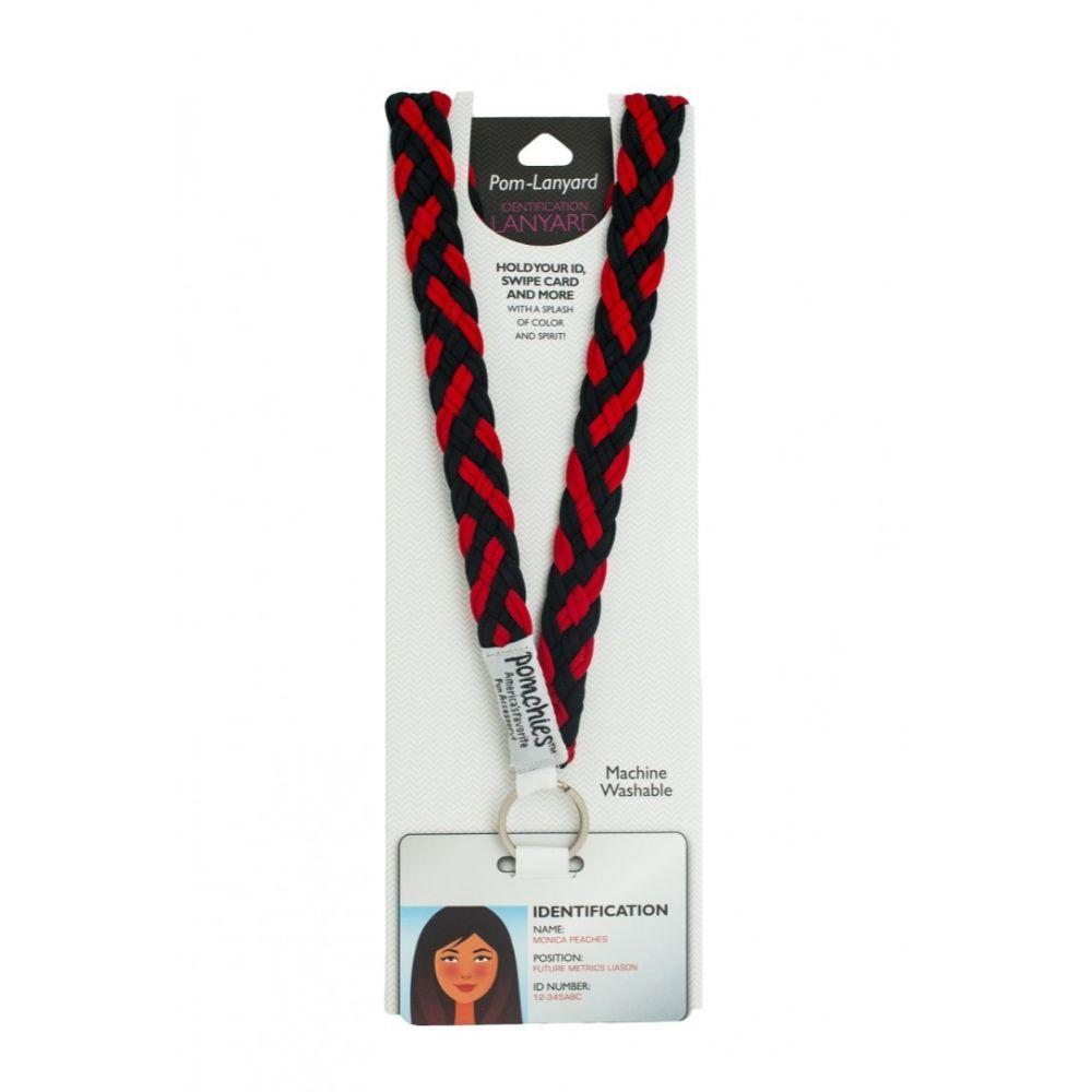Pomchies Red And Black Lanyard
