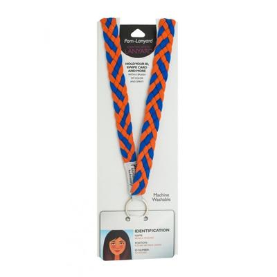 Pomchies Orange and Blue Lanyard