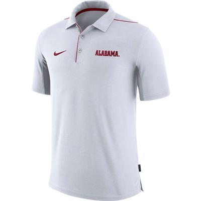 Alabama Nike Dri-FIT Team Issue Polo WHITE
