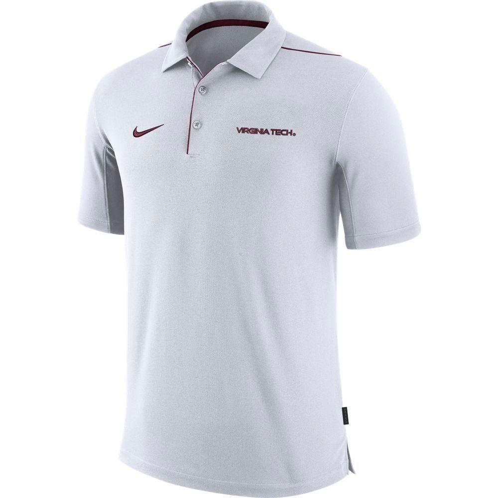 Virginia Tech Nike Dri- Fit Team Issue Polo