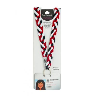 Pomchies Black, White and Red Lanyard