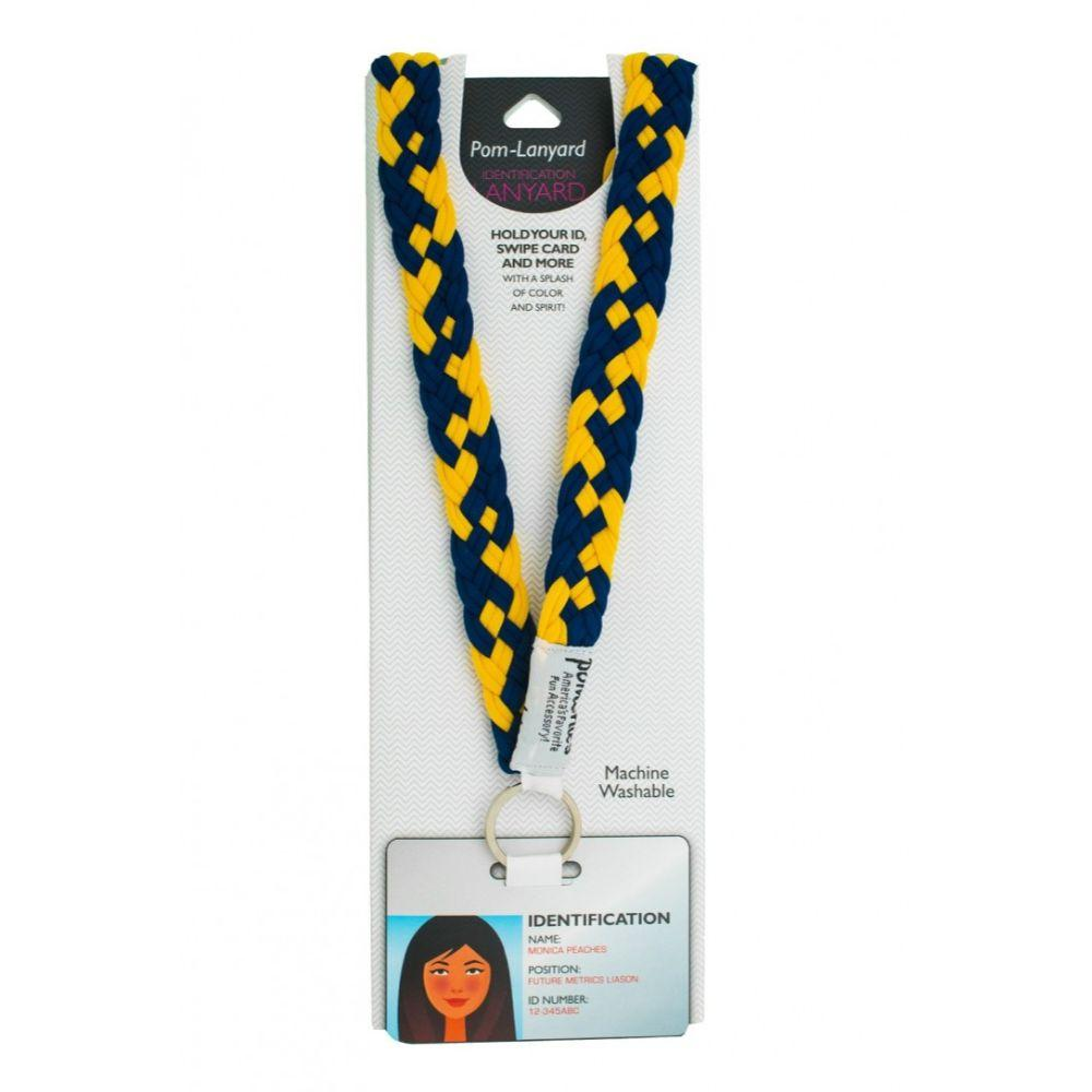 Pomchies Navy And Gold Lanyard