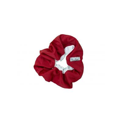 Pomchies Crimson and White Hair Scrunchie