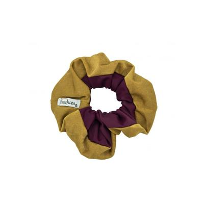 Pomchies Burgandy and Gold Hair Scrunchie