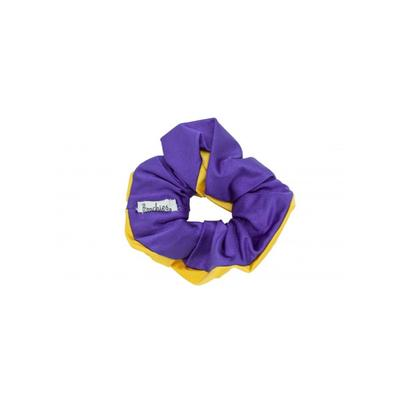 Pomchies Purple and Gold Hair Scrunchie