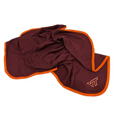 Virginia Tech Maroon Baby Blanket