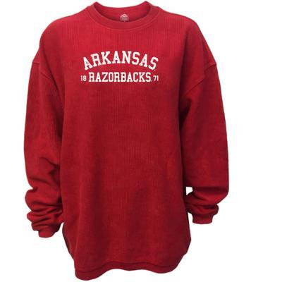 Arkansas Women's Double Arch Corded Sweatshirt