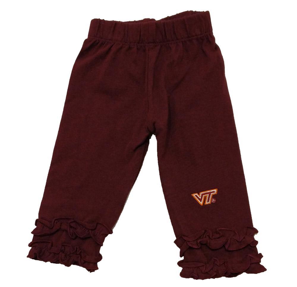 Virginia Tech Infant Ruffle Leggings