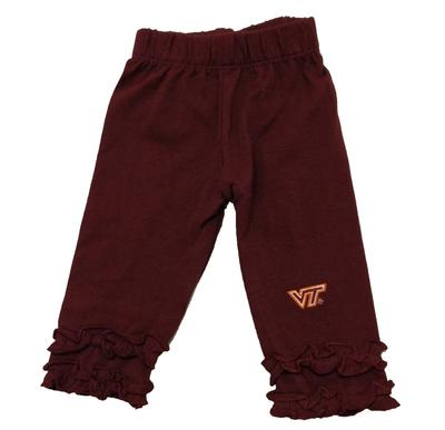 Virginia Tech Infant Ruffle Leggings