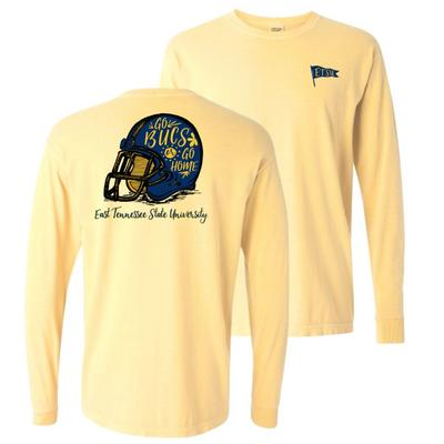 ETSU Comfort Colors Hand Drawn Long Sleeve Helmet Tee