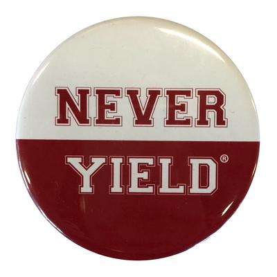 Arkansas Never Yield Button