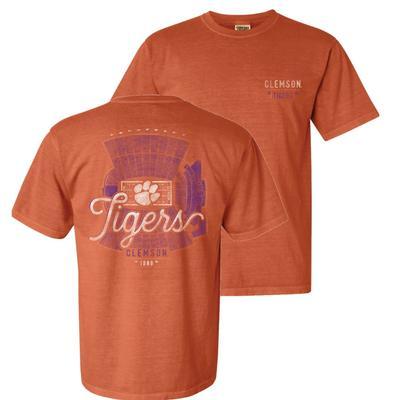 Clemson Comfort Colors Stadium Script Tee