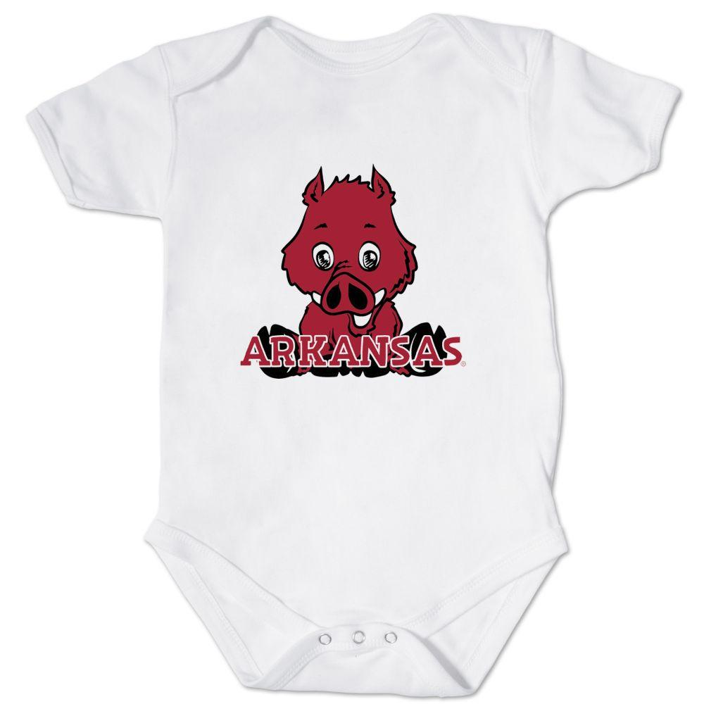 Arkansas Front And Back Mascot Onesie