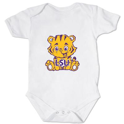 LSU Front and Back Mascot Onesie