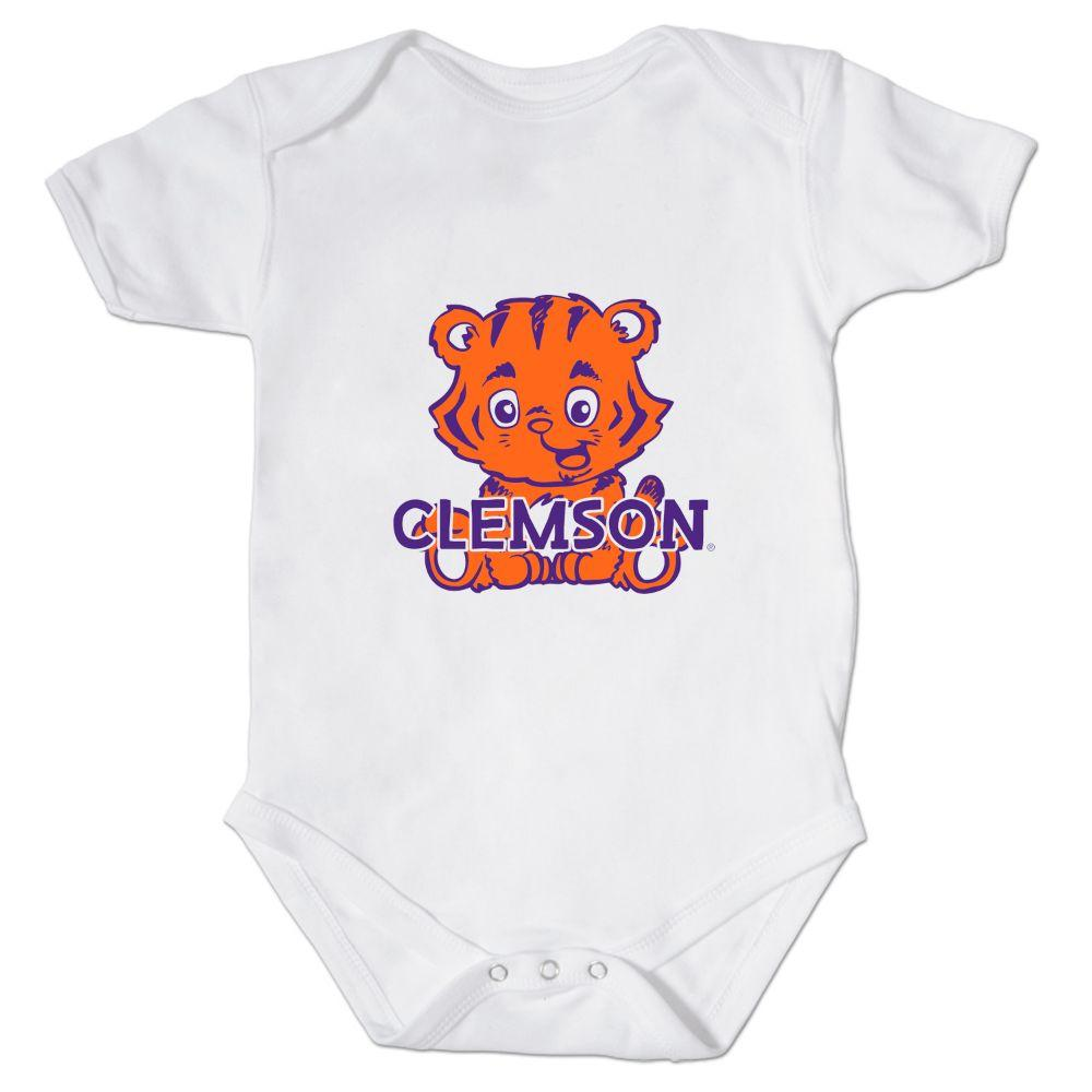 Clemson Front And Back Mascot Onesie