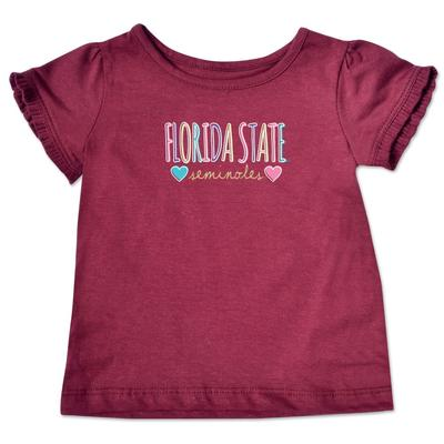 Florida State Infant Girls Ruffle Sleeve T Shirt