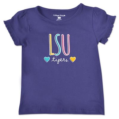 LSU Toddler Girls Ruffle Sleeve T Shirt