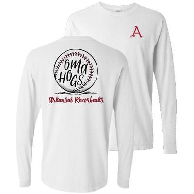 Arkansas Comfort Colors Oma Hogs T Shirt