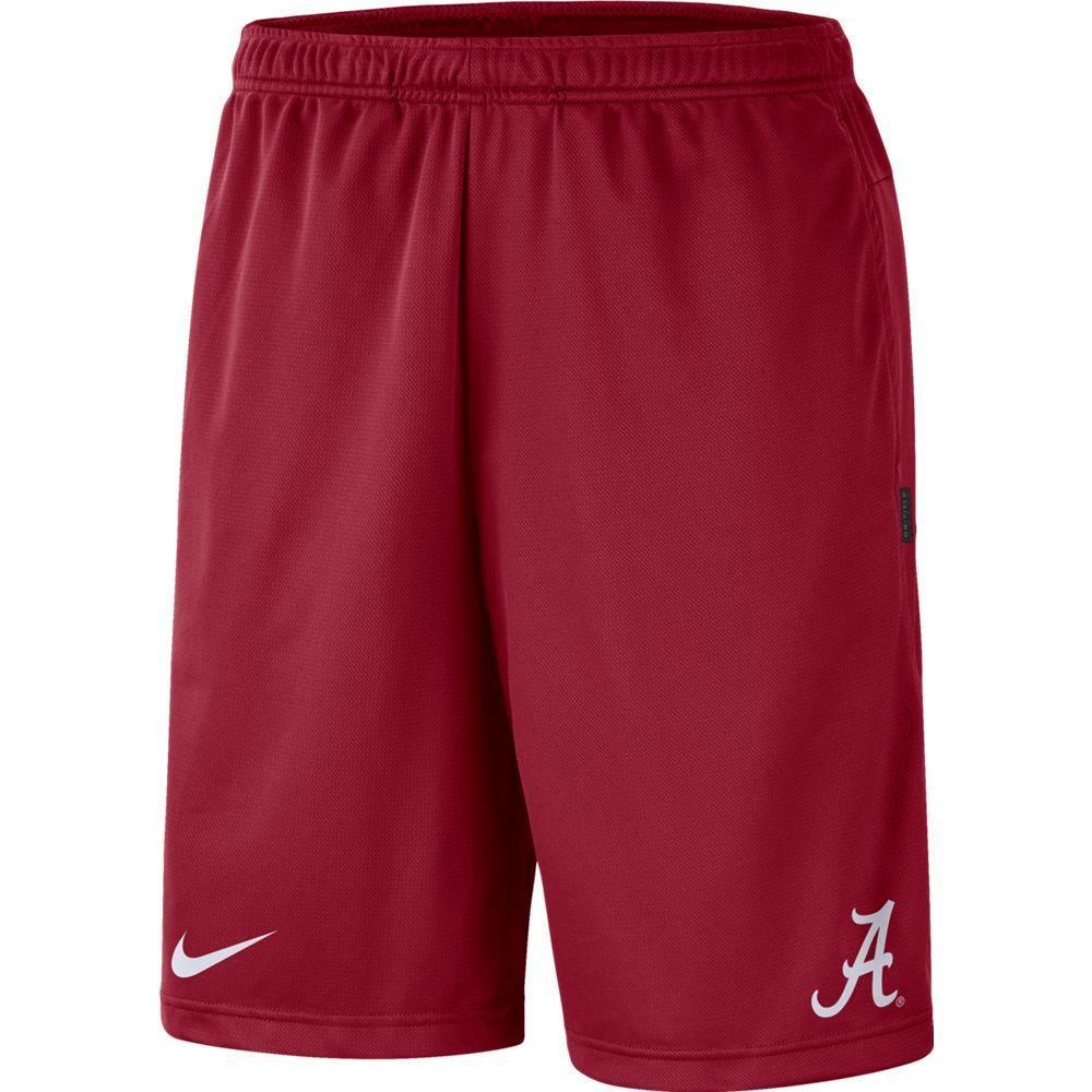 Alabama Nike Knit Dri- Fit Coaches Shorts