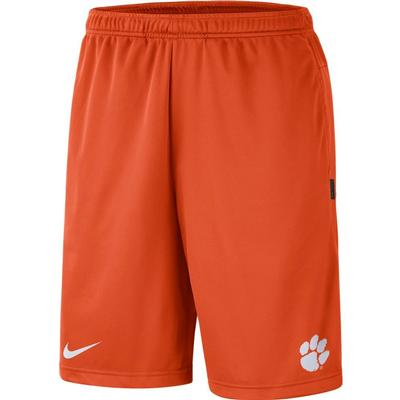 Clemson Nike Knit Dri-FIT Coaches Shorts ORANGE