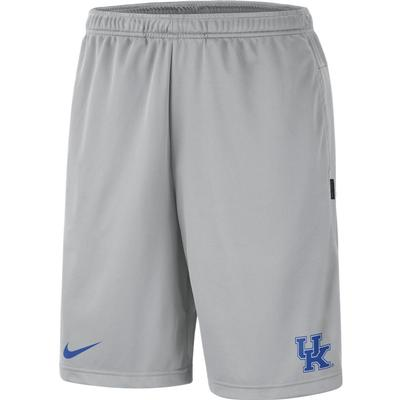 Kentucky Nike Knit Dri-FIT Coaches Shorts FLINT_GREY