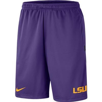 LSU Nike Knit Dri-FIT Coaches Shorts