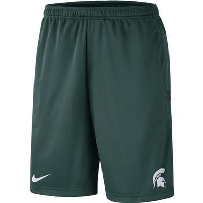 Michigan State Nike Knit Dri-FIT Coaches Shorts
