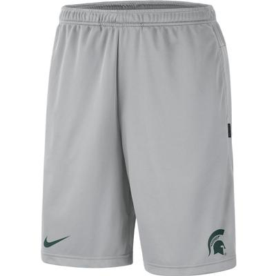 Michigan State Nike Knit Dri-FIT Coaches Shorts