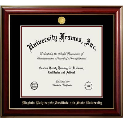 Virginia Tech Classic Diploma Frame