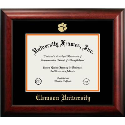 Clemson Mahogany Diploma Frame