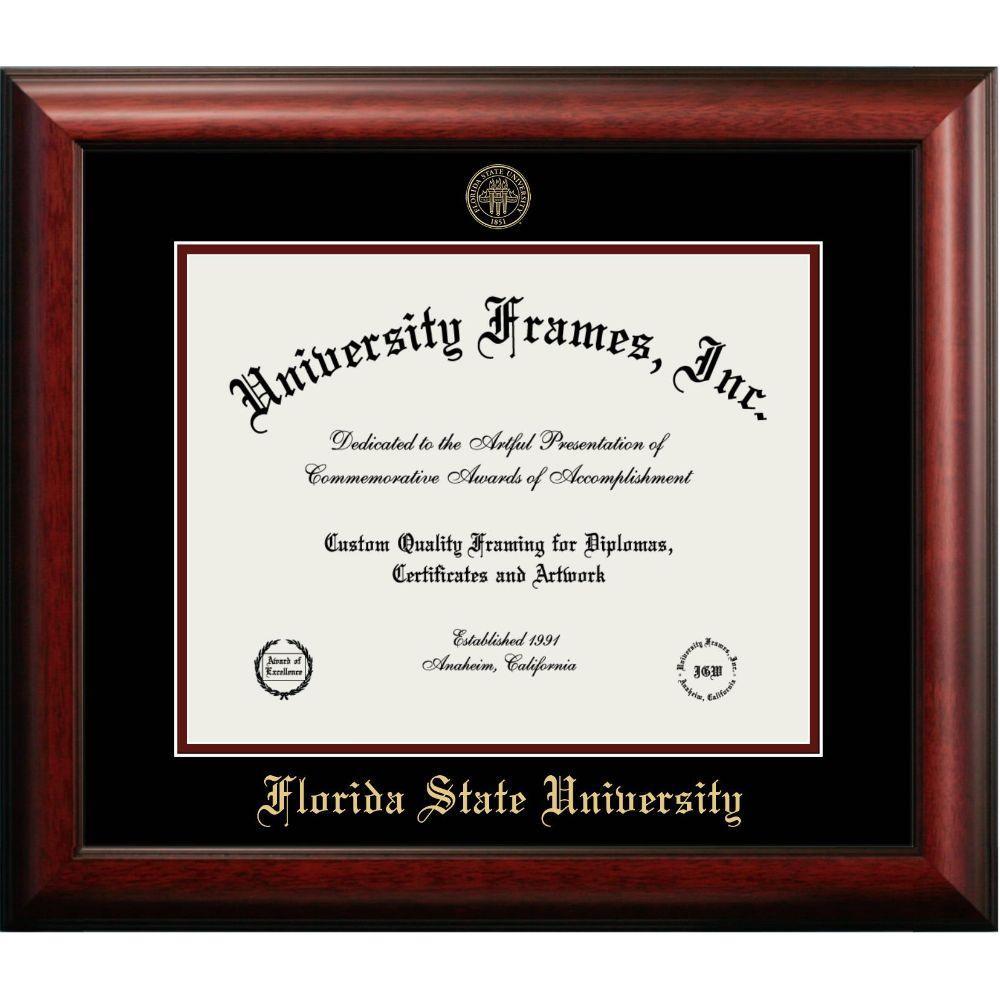 Florida State Mahogany Diploma Frame