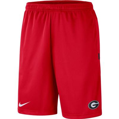 Georgia Nike Knit Dri-FIT Coaches Shorts