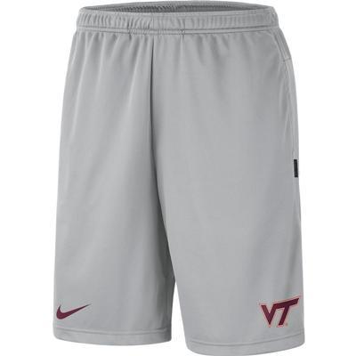 Virginia Tech Nike Knit Dri-FIT Coaches Shorts