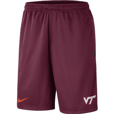 Virginia Tech Nike Knit Dri-FIT Coaches Shorts