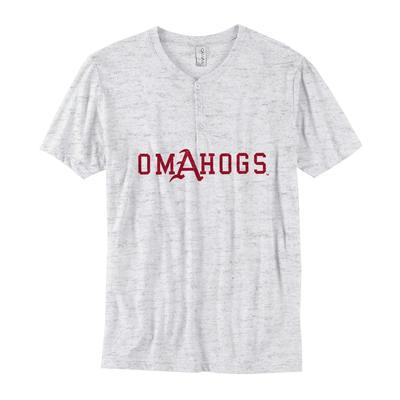 Arkansas B Unlimited Omahogs Henley Shirt
