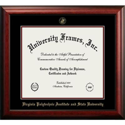 Virginia Tech Mahogany Diploma Frame
