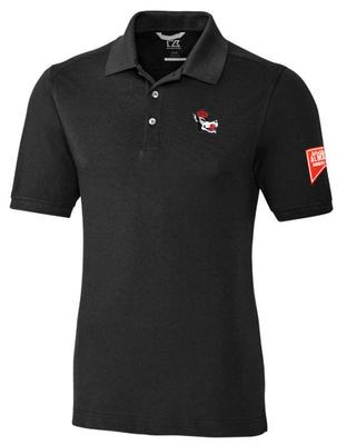 NC State Cutter And Buck Advantage Vault Patch DryTec Polo BLACK