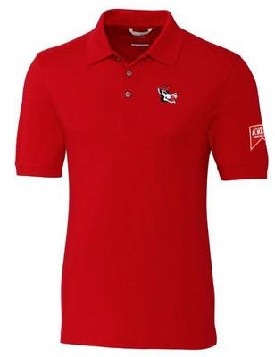 NC State Cutter And Buck Advantage Vault Patch DryTec Polo RED