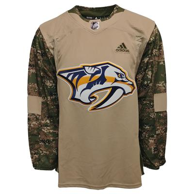 Nashville Predators Adidas Men's Authentic Camo Practice Jersey