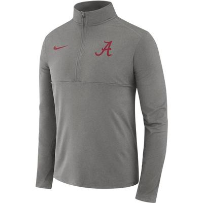Alabama Nike Dri-FIT Core 1/2 Zip Long Sleeve Pullover DK_GREY_HTHR